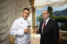 Domenico Ruberto eSimone Ragusa, chef e maître del ristorante I Due Sud dell'Hotel SplendideRoyalaLugano, Svizzera