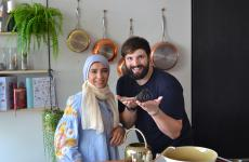 Sara Afifi and Stefano de Costanzo, promoters of Culture Whisk. She is Egyptian, he is from Puglia (with a past as pastry chef from Giorgio Locatelli and Gordon Ramsay)