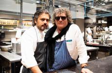 Matteo Baronetto eFulvio Pierangelini. I due sono stati i protagonisti di una cena straordinaria, l'altra sera al Del Cambio