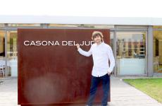 Sergio Bastard in front of the entrance to his restaurant Casona del Judío, in Santander, in the Spanish region of Cantabria, in the north, in front of the Gulf of Biscay between Asturias and Basque Country