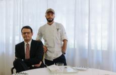 Luca e Francesco Bracali, i due fratelli - il primo in sala, il secondo in cucina - alla guida del ristorante bistellato di Massa Marittima (Grosseto)