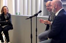 Livia Peraldo Matton a Identità Golose Milano per il debutto diFab Food Conversations, insieme aTiziano VudafierieClaudio Saverino