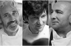 I tre protagonisti della prima serata milanese di Fish&Chef: Leandro Luppi, Massimo Fezzardi, Carmelo Di Novo