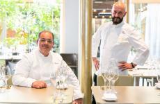 Da sinistra: Vito Mancini ed Enzo Florio, le due colonne di Tuccino, nella sala ristorante di Identità Golose Milano (tutte le foto di OnStage Studio)