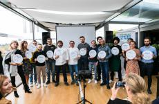 Alcuni degli chef aderenti a Ristoranti contro la fame. Riconosciamo, tra gli altri, Tommaso Arrigoni, Cesare Battisti, Strefano Cerveni, Alberto Gipponi, Wicky Priyan
