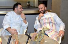 Felice Lo BassoconGiuseppe Boccassini, suo resident chef al nuovo Memorie di Felix Lo Basso a Trani