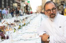 Norbert Niederkofler prima dell'inizio della Cena dei Mille (Foto Carra)