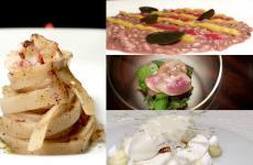Alcuni piatti di La Cru, il nuovo ristorante di Giacomo Sacchetto nel Veronese