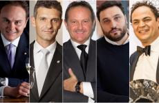 Matteo Lunelli, Marco Amato, Francesco Cerea, Nicola Farinetti e Aldo Melpignano, cinque protagonisti del recente webinar Identità di Sala - Idee per il futuro, organizzato da Cantine Ferrari e Identità Golose