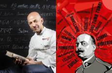 Geni a confronto: Riccardo Camanini e Filippo Tommaso Marinetti,fondatore del movimento futurista, la prima avanguardia storica italiana del Novecento