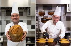 Angelo Mattia Tramontanonel laboratorio del suoGran Caffè Napoli, a Castellammare di Stabia. Qui in stagione vengono sfornati più di 2mila panettoni