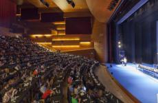Il palco del Kursaal diGastronomika a San Sebastian, nei Paesi Baschi. La ventunesima edizione ha luogodal 6 al 9 ottobre