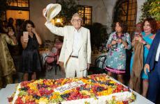 Giacomo Bulleri nel giugno dello scorso anno, il giorno del suo93esimo compleanno