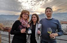 Gianni Tessari insieme alla moglie Anna Maria e alla figlia Valeria