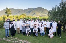 Foto di gruppo per i protagonisti al Kresios di Telese Terme della seconda tappa (su cinque) di Spessore 2020, quest'anno un evento itinerante. Tutte le foto sono di Stefano Delia