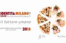 Una pizza è ilpiatto simbolo di Identità2018 (leggi:La pizza piatto simbolo di Identità 2018, diPaolo Marchi). Non è mai successo prima: in passato era toccato via via alle creazioni diCarlo Cracco,Alfonso Caputo,Moreno Cedroni,Massimo Bottura,Davide Scabin,Paolo Lopriore,Massimiliano Alajmo,Pino Cuttaia, di nuovoBotturanel 2015,Cristina Bowermane il marzo scorso daEnrico Crippa. Ora una pizza, anzi dueper unire l'Italia intera nella stessa immagine. Sette spicchi: i tre sulla sinistra portano la firma diFranco Pepe, i quattro sulla destra quella diRenato Bosco. La Campania, dove la pizza è nata, e il Veneto, la regione dove, il decennio scorso, è rinata grazie aSimone Padoane allo stessoBosco