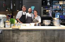 Francesco Vitale, Mauro Ladu,Alessandra Meddi: il trio di Cucina.eat a Cagliari
