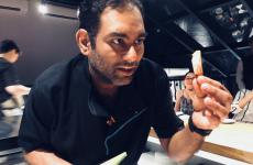 Gaggan Anand, 39, born in Calcutta, India. He opened restaurant Gaggan in Bangkok, Thailand, and got to number 7 in the World's 50Best and number 1 in the 50Best Asia for 3 years in a row. A few weeks ago he also got two Michelin stars. He'll close the restaurant in 2020 and move to Fukuoka, in Japan