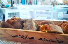 Bread at Cortile Arabo in Marzamemi: made with flour from ancient Sicilian wheat varieties