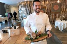 Marco Acquaroli presenta la sua deliziosa anatra; da un anno il giovane di Palazzolo è chef alla Dispensa Pane e Vini di Adro (Bs)