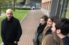 Beppe Palmieri nella pausa della lezione tenuta il 12 aprile scorso a 30 studenti del Master in Food and wine communication, in collaborazione tra Università Iulm di Milano e Gambero Rosso