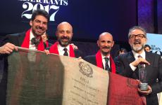 The four Italian chefs (there's also Puglisi, but he's in Copenhagen) among the World's 50 Best:Alajmo, Romito, Crippaand Bottura