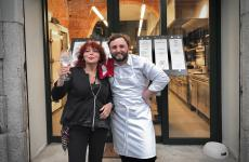 Maida Mercuri e Luca Natalini, ossia la sempreverde patronessa de Al Pont de Ferr di Milano e il suo nuovo chef