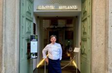 Riccardo Agostini, chef-patron de Il Piastrino di Pennabilli (Rimini), fotografato martedì a Identità Golose Milano
