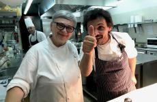 Maria Cicorella e Antonio Zaccardi nelle cucine del Pashà