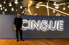 Enrico Bartolini in front of his new restaurant Cinque (it is the fifth in Italy) inside Fico Eataly World in Bologna. The chef announces that he's soon to open two bistros in Milan too. Plus...