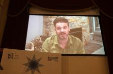 A frame from the video with which Australian Jock Zonfrillo thanked the Basque Culinary Center and the Council of the Basque Culinary World Prize for choosing him as winner of the third edition