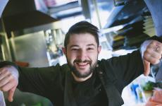 Lorenzo Romano, classe 1989, chef patron dell'Insolita Trattoria Tre Soldi, Firenze