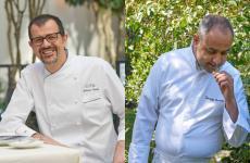 Antonio Guida, a sinistra, chef del Mandarin OrientalMilano (e due stelle Michelin con il Ristorante Seta) e Vincenzo Guarino, che tra poche settimane si insedierà come chef del nuovissimo Mandarin Oriental Lago di Como, a Blevio