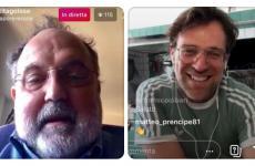 Paolo Marchi e Renato Bosco delle pizzerie Saporè (San Martino Buonalbergo, Verona, Milano e non solo)nell'intervistalive di ieri pomeriggio, venerdì 3 aprile, sul profilo instagram di Identità Golose