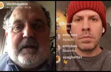 Paolo Marchi e Paulo Airaudoin collegamento su Instagram.Ecco gli appuntamenti delle prossime interviste in diretta alle 16sul canale @identitagolose:  Venerdì 3Renato Bosco Sabato 4Antonia Klugmann Domenica 5Marco Reitano