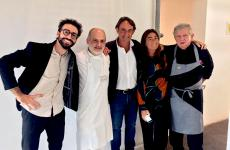 A 100 Italian pastry-making memory from Monday 18th September at Molino Quaglia's school in Vighizzolo d'Este (Padua), from Franco Aliberti's Facebook page. He's chef and pastry-chef at Presef in Mantello (Sondrio), the first to the left. After him, there's Corrado Assenza, Piero Gabrieli, Chiara Quaglia and Rolando Morandin