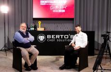 Paolo Marchi ed Enrico Bartolini poco prima dell'inizio della registrazione dell'intervista.Si può ascoltare per interoiscrivendosi a Identità on The Road(per informazioni:iscrizioni@identitagolose.it, telefono +390248011841, interno 2215)