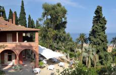 I giardini di Villa della Pergola, che ospita il ristorante Nove, guidato da Giorgio Servetto