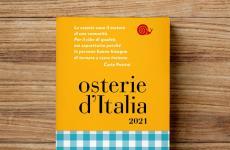 La copertina dell'edizione cartacea della Guida Osterie d'Italia: l'app digitale quest'anno non esce in contemporanea, ma verrà pubblicata nel mese di dicembre