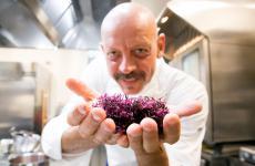 L'elemento salmastro, portato in particolare dall'uso delle alghe, è molto importante nella cucina di Gianfranco Pascucci, chef di Pascucci al Porticciolo di Fiumicino, e in questi giorni ospite a Identità Golose Milano