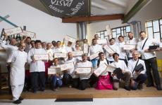 La terza edizione del simposio di Pastry Best al Molino Quaglia, si è conluso come i precedenti con la consegna degli attestati di frequenza. Foto Thorsten Stobbe