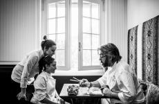 Philippe Léveillé ritratto da Nicolò Brunelli inBackstage - La vita dietro a un piatto,mostra personale che sarà inaugurata a Brescia il prossimo 16 dicembre
