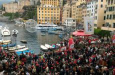 Un'immagine della Sagra del Pesce che ha avuto luogo a Camogli il 12 maggio scorso (fotoeventiesagre.it)