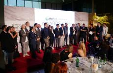 On the stage built in the middle of Open Colonna in Rome, a photo with all the winners of the second edition of TheFork Restaurants Awards