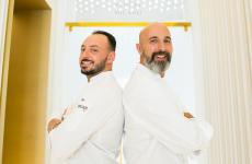 Da sinistra, il resident chef di Identità Golose Milano, Alessandro Rinaldi, e il coordinatore delle cucine di via Romagnosi, Andrea Ribaldone (tutte le foto sono di OnStageStudio)