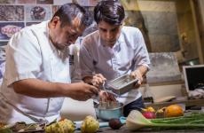 Virgilio Martinez (right) with Roberto Ortiz, resident chef at Lima London, the only Peruvian restaurant with a Michelin star. The Peruvian chef will participate in the ninth edition of Identità in New York, 1st-3rd October