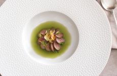 Rognone di coniglio, crema di carote, acqua di acetosella: il piatto dell'inverno di Stefano Sforza