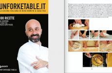 La copertina di Unforketable.it di Niko Romito, un libro di 100 ricette che si può ordinare a casa (cliccando sul sito di Giunti, che spedisce regoralmente) ma anche una progettoonline con tanti magnifici tutorial