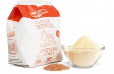 La farina di lenticchie rosseMolino Martino Rossi fa parte della linea Artisan:prodotti senza glutine, senza soia, senza additivi né coloranti. Ma soprattutto ad alto contenuto di proteine e fibre e perciò adatte a ogni tipo di preparazione