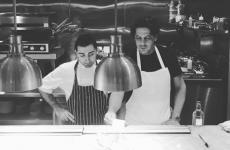 Francesco Mazzei(right)withFrancesco Chiarelli, head chef atFiume. It's the third restaurant the Calabrian chef opens in London afterSartoriaandRadici(photo frominstagram)